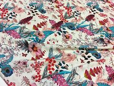 ROBERTO CAVALLI jersey viscose fabric, floral print made in Italy,  200 x 140 cm