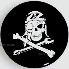 """SPARE TIRE COVER 24.5""""-26"""" w/ safari tracker pirate skull Mechanic"""