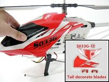 NEW RED TAIL DECORATION FINS SYMA S033  S033G RC HELICOPTER