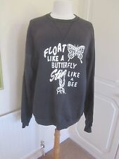 VGC ADIDAS MUHAMMAD ALI BLACK FLOAT LIKE A BUTTERFLY SWEATSHIRT SIZE L