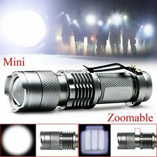 Tactical CREE Q5 LED Dimmable beam Zoom 600lumens Flashlight Torch Lamp Bright