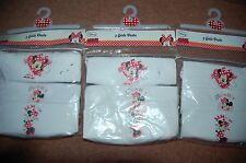 New 9 x 18-24 Months upto 92cm Disney Minnie Mouse Girls Cotton Vests White &Red