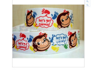 New Curious George ribbon for cake decorating or scrapbooking 1m long