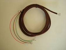 Antique vintage telephone brown modular cloth covered round wall cord bell cord