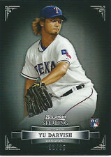 2012 Bowman Sterling YU DARVISH Rookie RC BLACK Non-Auto Refractor #03/25