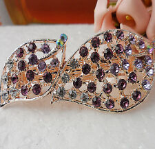 Simple 60MM crystal Rhinestone Flower hair barrette clip Hairpin  SF121
