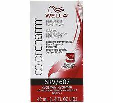 Wella Color Charm Liquid Haircolor 607/6rv Cyclamen, 1.4 oz