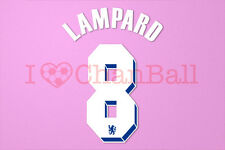 Lampard #8 2011-2012 Chelsea UEFA Chaimpons League Homekit Nameset Printing