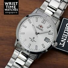 NEW ORIENT Automatic Silver Mens Watch Sunburst EER1H001S0 Sapphire Cocktail