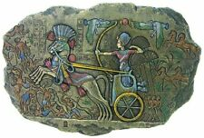 "12"" Ramses II on Chariot Wall Plaque Statue Egypt Egyptian Decor Figure"