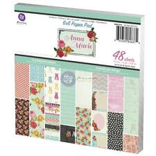 "**NEW**Prima Marketing Inc: Anna Marie Collection 6""x6"" Paper Pad"