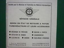 4/1965 PUB REVIMA USINE CAUDEBEC-EN-CAUX REVISION MOTEUR PISTON TURBOREACTEUR AD