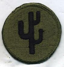 Vietnam Era US Army 103rd Infantry Division OD Subdued Patch Cut Edge