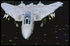 496096 F 14 Tomcat Taxis On The Carrier Deck A4 Photo Print
