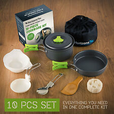 Non-stick camping cookware set outdoor backpacking hiking cooking mess kit
