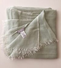 NORDSTROM Woman Scarf/ Wrap Light Green Silk Blend NEW