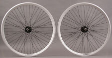 Velocity Chukker Silver Polo Bike Fixed Gear Bike Wheels 48 DT Spokes Wheelset