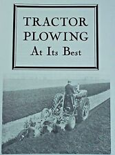 IH Farmall Learn How to Plow Booklet Manual Course Tractor Plowing at Its Best