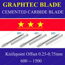 3x HQ 45° Cemented Carbide Blades for Graphtec CB09 Cutting Cutter Vinyl Plotter