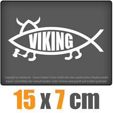 Viking Fisch 15 x 7 cm JDM Decal Sticker Aufkleber Racing Die Cut