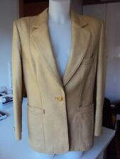 LUXUS COUTURE ESCADA LEDER JACKE leather JANKER STATEMENTgold beige40/42 NP2.500