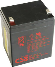 "New 2016 CSB 12v 5.1Ah Sealed Lead Acid Battery HR1221WF2 F2/0.25"" Terminals"