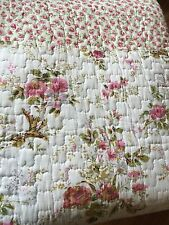 Country Chic Floral Vintage Shabby Queen Patchwork Coverlet Quilt Brand New