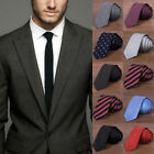 Men Skinny New Classic Jacquard Woven Wedding Hot Party Necktie Tie Slim AS