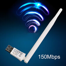 Hi-Speed 150Mbps USB WIFI Wireless LAN Adapter 17dBm Antenna For Desktop PC SH