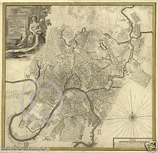 1739 MOSCOW Москва Moskvá  RUSSIA LARGE CITY PLAN MAP