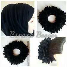 HIJAB VOLUMIZING KHALEEJ SCRUNCHIEJI FLOWER CLIP VOLUMIZER HAIR BUN ABAYA HIJAB