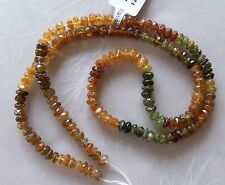 "16"" Strand Petro Caramel Tourmaline Gemstone Small Faceted Rondelle Beads 4mm"