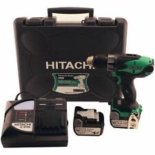Hitachi DS14DSLl 14.4V LiIon Cordless Driver Drill & 2 3Amp Batts Carrying Case