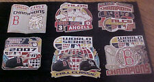 Set of 6 2007 World Series Boston Red Sox Logo Collector Champions Pins