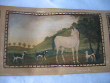 Horses & Dogs Out to Pasture / Framed Country Scene Wallpaper Border - Imperial