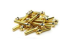 140x Gold Split Rim Bolts M7 x 32mm BBS RS OZ Wheels High Tensile Steel Screws