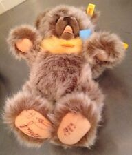Steiff Zotty Teddy Bear 0302/30 Original Tags Signed Paws Jointed Movable 13""