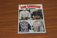 Easy Cardigans for Quilters Book Patterns Quilt Beth Wheeler Log Cabin Diamond