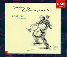 Bach: Cello Suites Johann Sebastian Bach, Mstislav Rostropovich Audio CD
