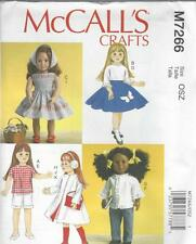 McCall's cucito PATTERN 18 INCH doll Abiti Dress Top Gon na short coat m7264
