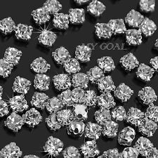 200PCS Charm Sparkle Clear Crystal Rhinestones Sew on Craft Dress Making Hot 3mm