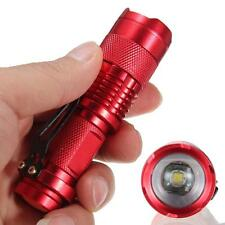2017 HOT CREE Q5 LED Mini Zoomable Flashlight 14500/AA Torch 7W 1200lm Red KJ