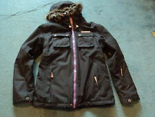 NO FEAR BOOST SKI SNOWBOARDING JACKET BLACK SIZE 9-10 YEARS MEDIUM GIRLS  NEW