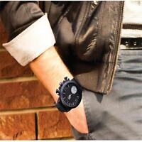 Silicone Band Big Round Face Men's Women's Sport Wrist Watch Quartz Watch F