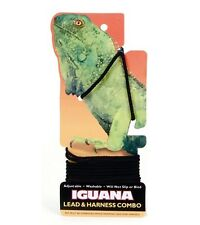 4' IGUANA Bearded Dragon Lizard Black Leash Lead Harness Combo Washable No Slip