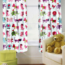 "Cute Pets Children's Kids Curtains 66"" by 54"" + Tiebacks Nursery Bedding Blinds"