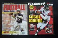 Football Betting Guide & Scout.com Magazines Brady & Vick Covers