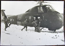 AVIATION, PHOTO HELICOPTERE SIKORSKY HSS-1, EMBARQUEMENT DE TROUPE