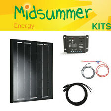 50w 12v energia di mezza estate All-Nero Mono Caricabatterie Solare PV Kit-BOSCH CELLE SOLARI