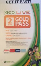 MICROSOFT XBOX 360 ✔ NEW 2 DAY LIVE GOLD PASS 48 HOUR TRIAL DLC CARD ✔ DOWNLOAD